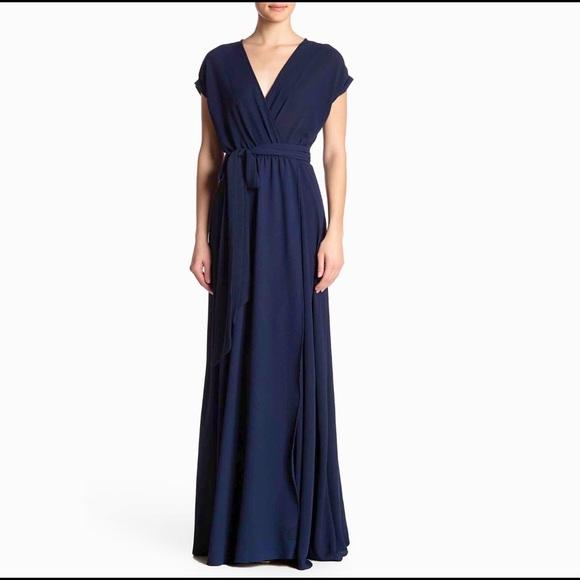 "Meghan LA Dresses & Skirts - NEW MEGHAN LA navy blue maxi dress ""Jasmine"" $425"